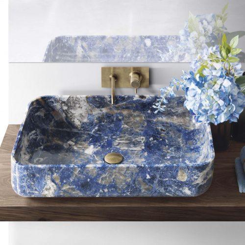 West One Bathrooms –  Nabhi Bowl 09  Sodalite blu  (2)