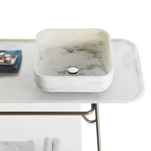 West One Bathrooms –  NABHI Bowl 3 in Bianco Estremoz and HASHI easel + tray (3)