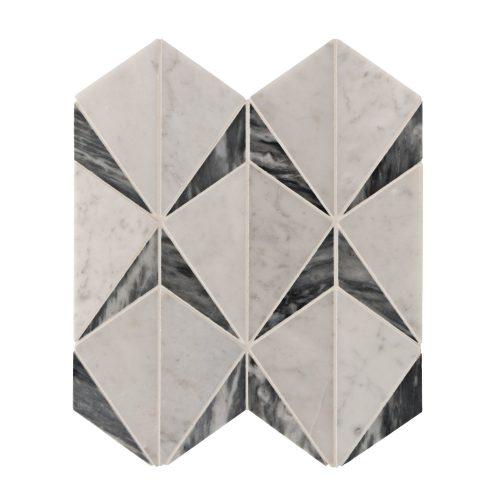 West One Bathrooms Benton Mosaic Clara Bardiglio Carrara Board