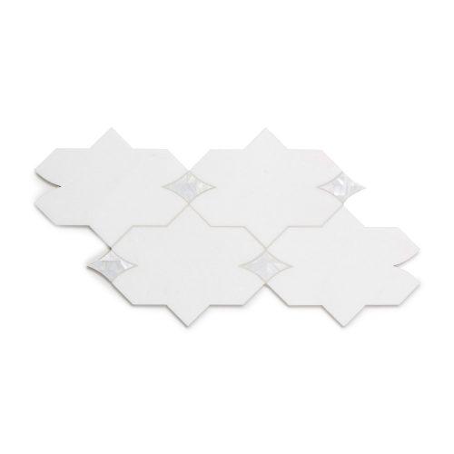 West One Bathrooms Benton Mosaics Mosaic Aleta White Thassos Shell