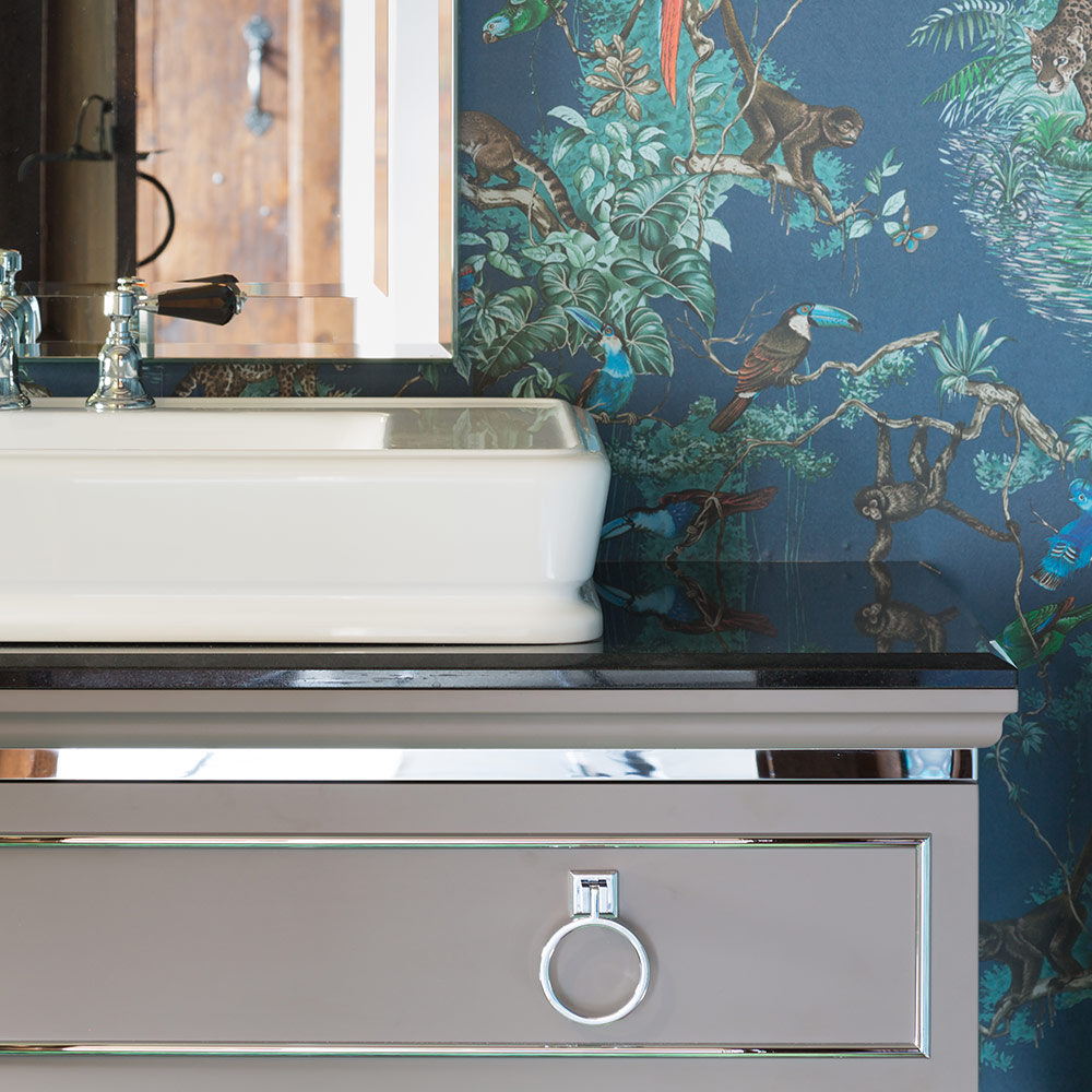 West One Bathrooms Case Studies: Jungle Cloakroom (Featured)