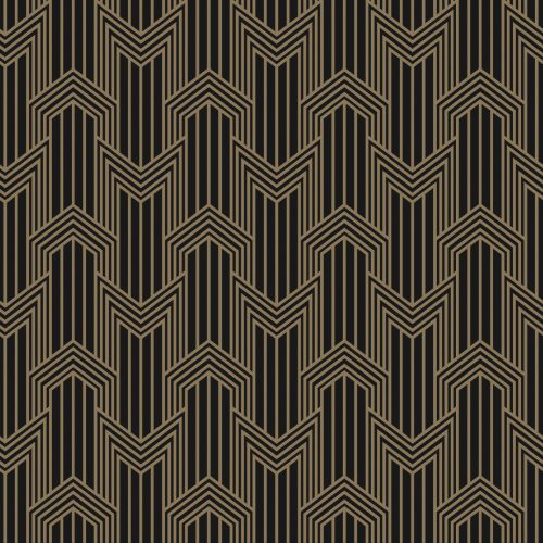 West One Bathrooms Ermanno Geometric 24×24 Gold on Black