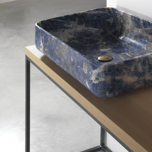 West One Bathrooms Kreoo Nabhi Bowl 09  Sodalite blu (3)
