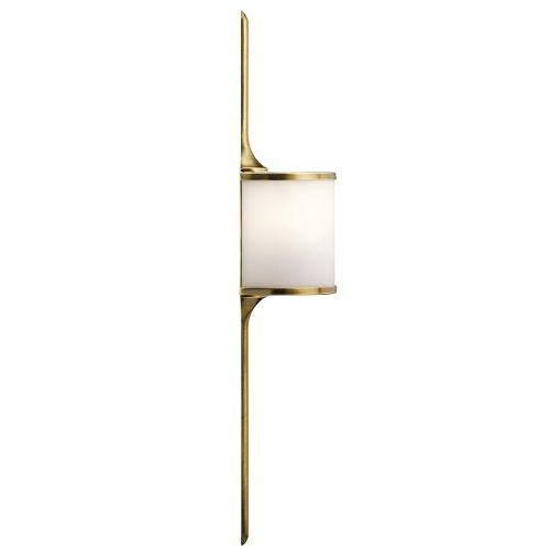 West One Bathrooms Mona wall light – brass side – Elstead
