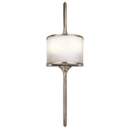 West One Bathrooms Mona wall light – brushed nickel  Elstead