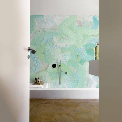 Pincelado Waterproof Wallpaper from Wall&Deco via West one bathrooms