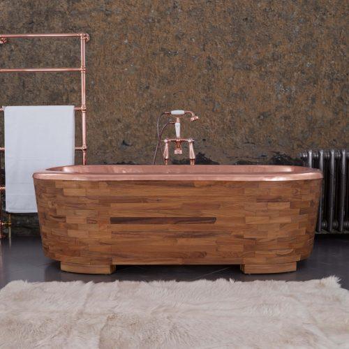 West One Bathrooms SAMPAN Teak and Copper