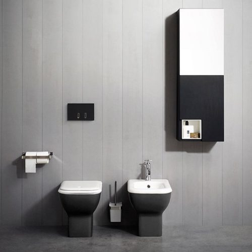 Memory WC and Bidet back to wall via west one bathrooms