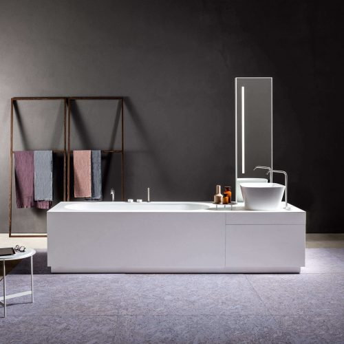 West One Bathrooms Sistema Bathtub washbasin system in Makril