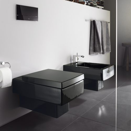West One Bathrooms Vero Black wall  hung