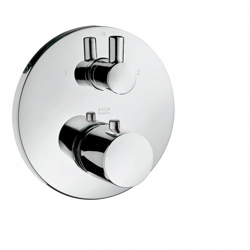 38720000 AXOR Uno Thermostatic mixer for concealed installation with shut off and diverter valve 2
