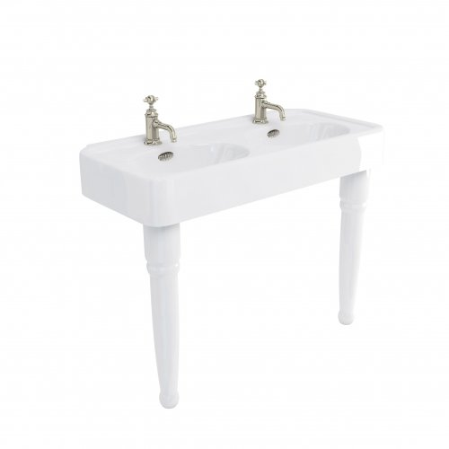 West One Bathrooms Arcade Basin with Console Legs ARC1200 1TH ARC2 CO