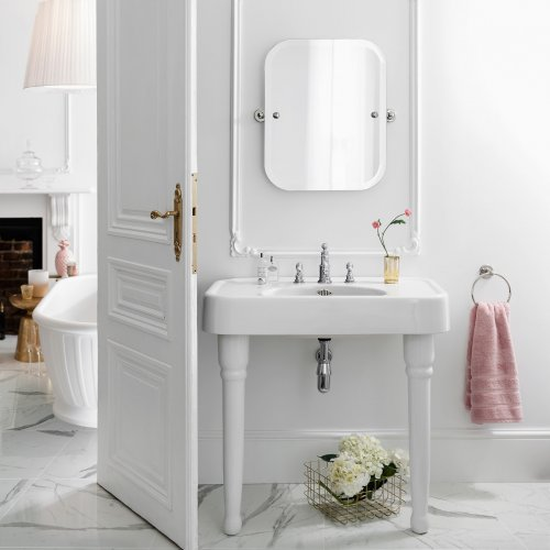 West One Bathrooms Arcade Basin with Console Legs Arcade Ped Basin PR 80045