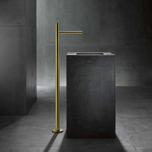 West One Bathrooms AXOR Uno Zero Handle Freestanding Washbasin Tap Gold