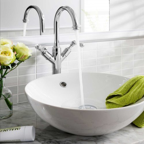 West One Bathrooms Belgravia Lever tall Basin monobloc