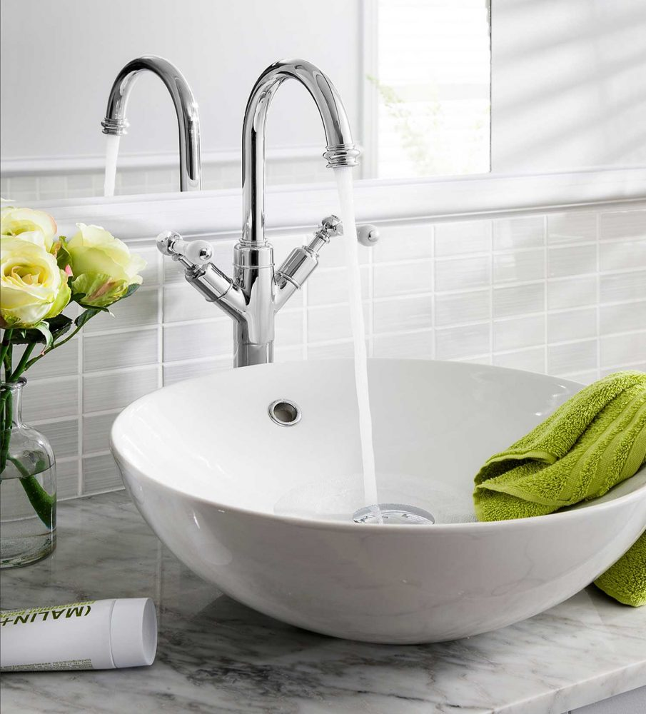 West One Bathrooms Belgravia Lever tall Basin monobloc