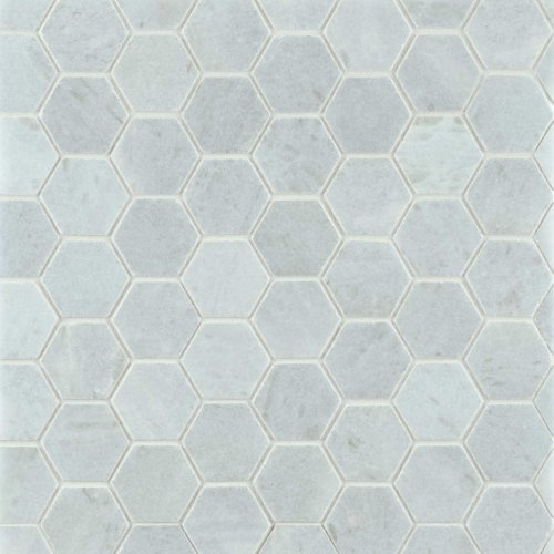 West One Bathrooms BlueCeleste Mosaic Hex Honed