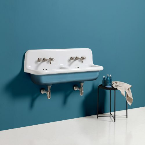 West One Bathrooms Broadway Wallmounted Blue
