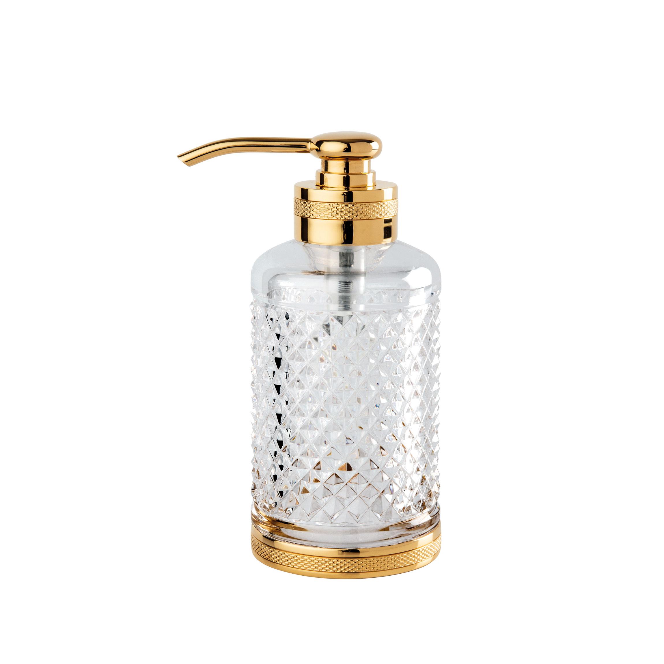 D Cut Crystal Soap Dispenser Basin