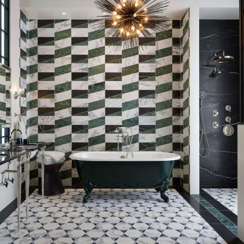 Liaison Mosaics by Ann Sacks via West One Bathrooms