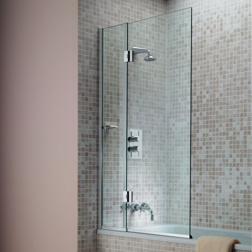 West One Bathrooms Matki Eleganza Hinged Bath Screen LCB – Main