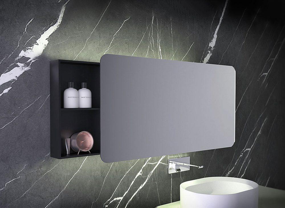 West One Bathrooms Mirror Storage 160