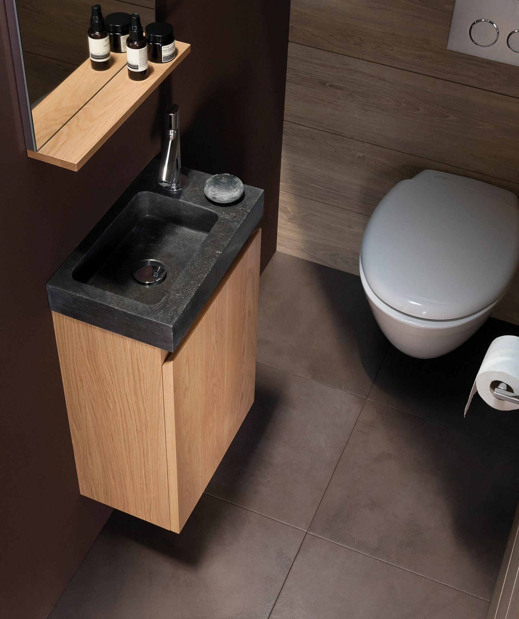 West One Bathrooms Sanijura pop massif chene naturel lisse