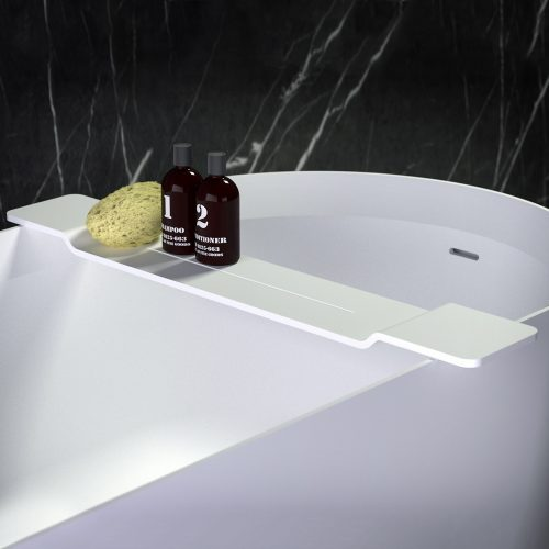 West One Bathrooms Stone Bath Shelf