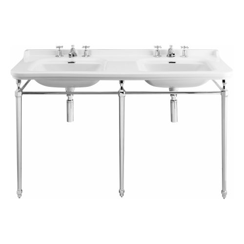 West One Bathrooms – Waldorf Double Basin Console Cut out