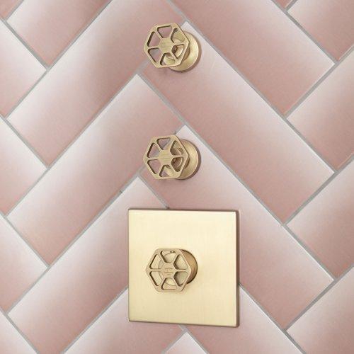 West One shower Controls – Geom brass – LD 9