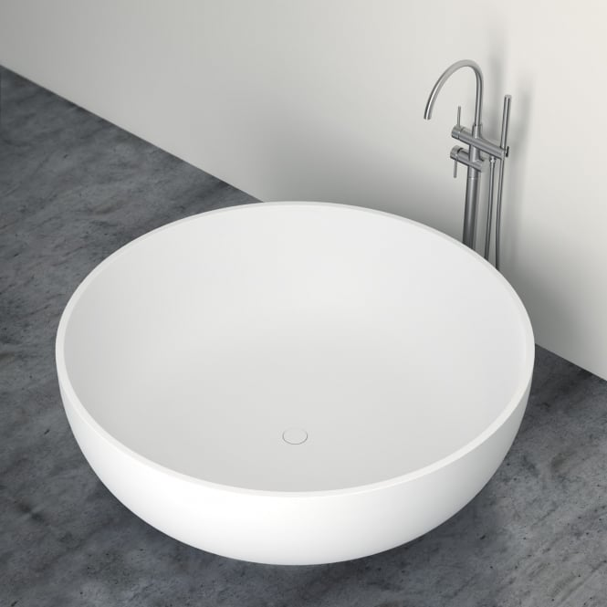 trade prices lusso stone notion stone resin solid surface freestanding round bath 1500 p199 5316 medium