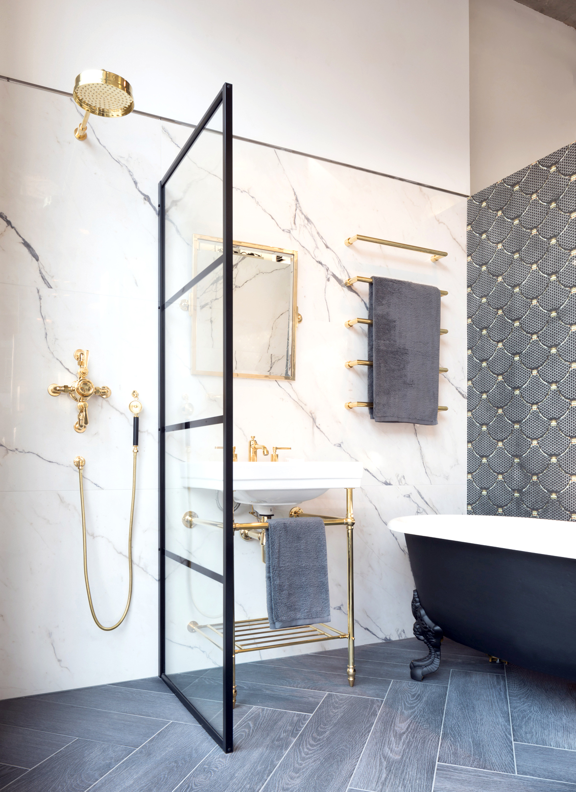 West One Bathrooms Crittall style showers living etc2
