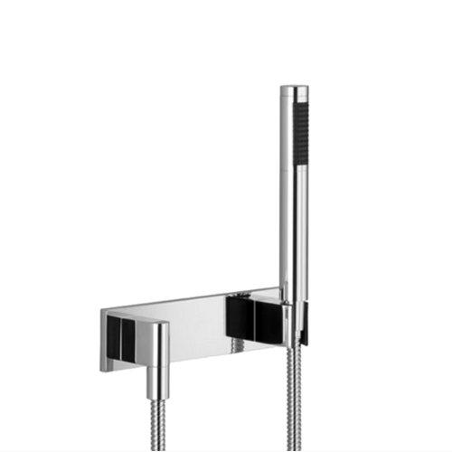 West One Bathrooms Dornbracht hand shower set with cover plate Chrome 02