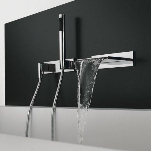 West One Bathrooms Dornbracht hand shower set with cover plate Chrome 03