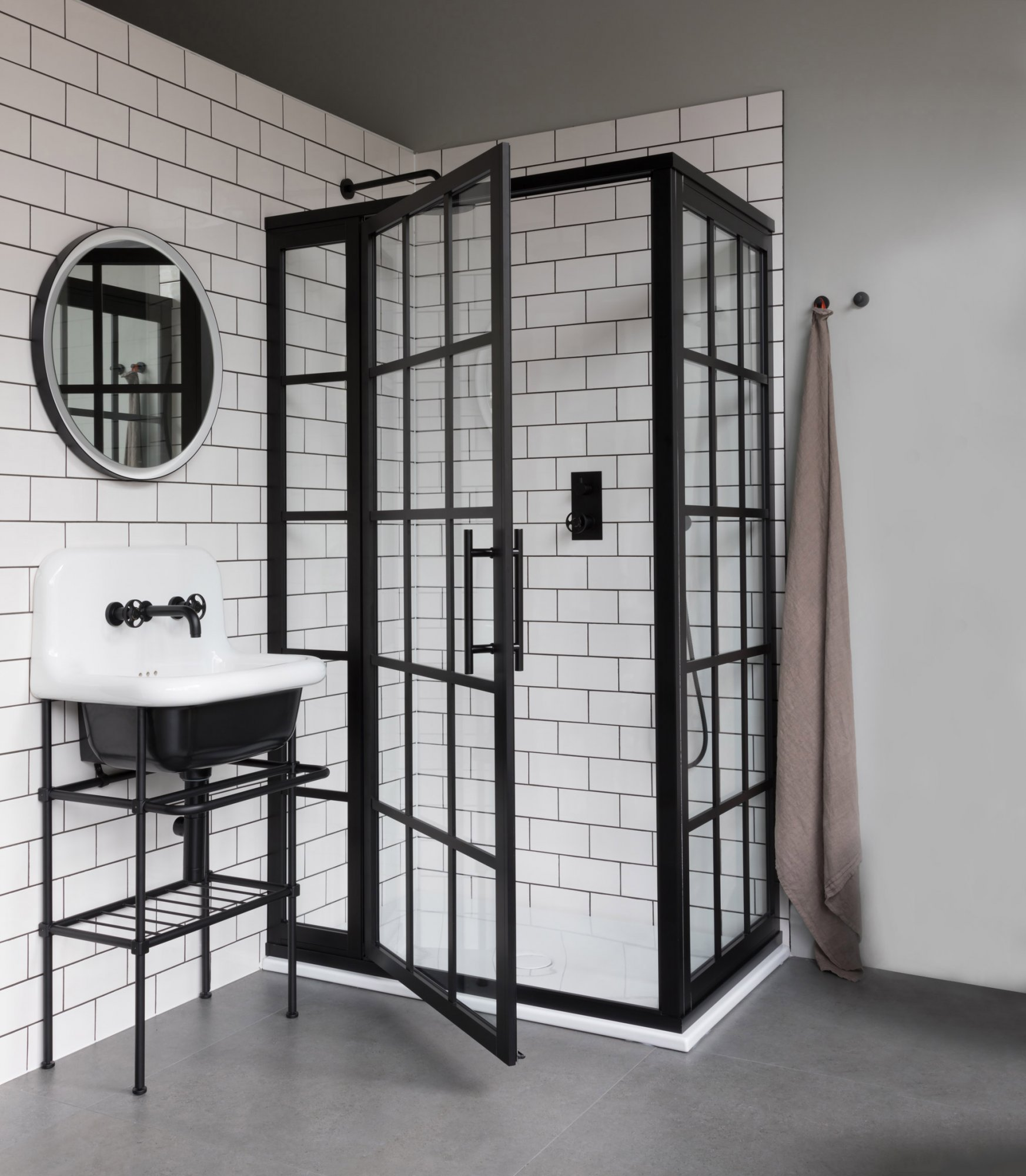 Industrial Shower Bathroom Inspiration