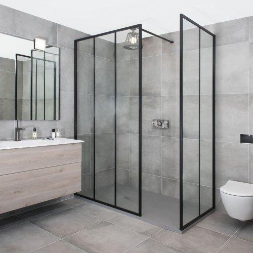 West One Bathrooms Industrial Linea shower