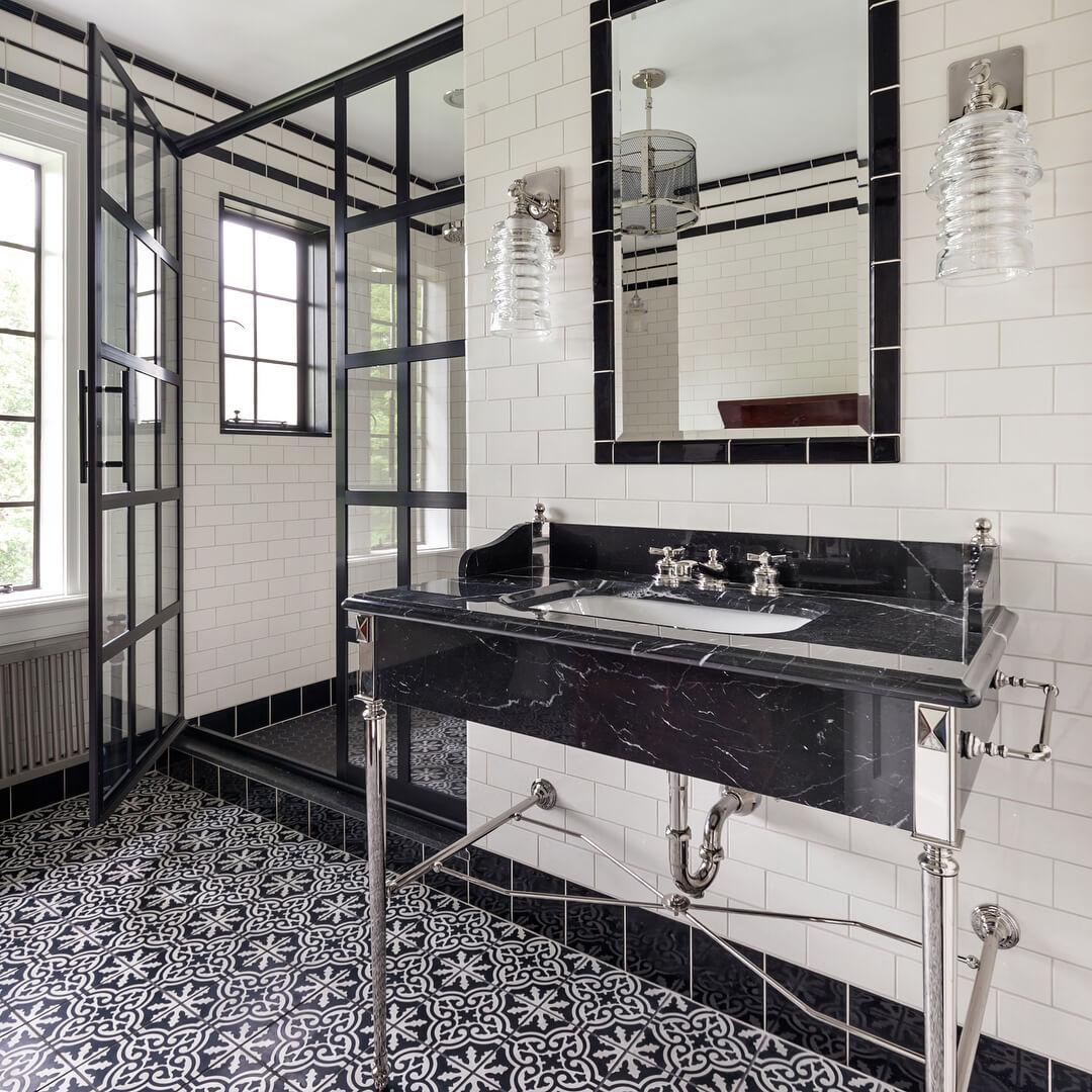 west one bathrooms industrial shower coastal
