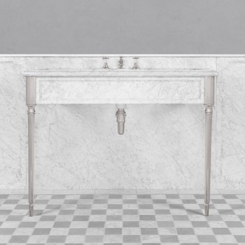 West One Bathrooms Marble console Edwardian LB 6334 WH