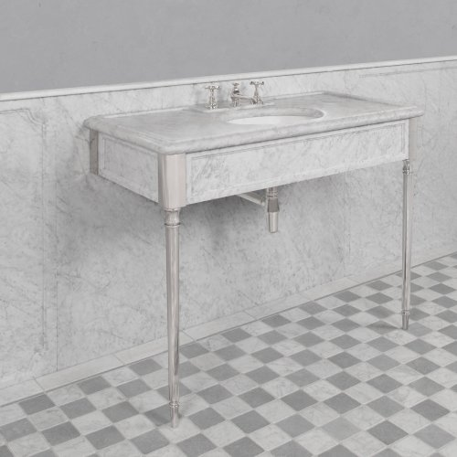 West One Bathrooms Marble console Edwardian LB 6334 WH B