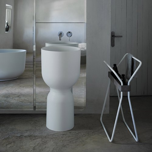 West One Bathrooms Origin Freestanding basin white