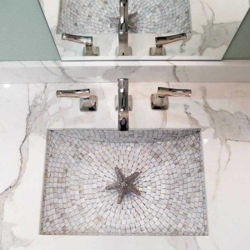 West One Bathrooms Rectangular crescent mosaic 01