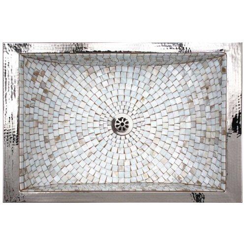 West One Bathrooms Rectangular crescent mosaic 04