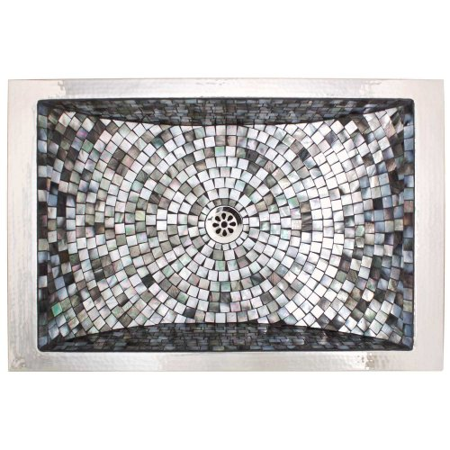 West One Bathrooms Rectangular crescent mosaic 05