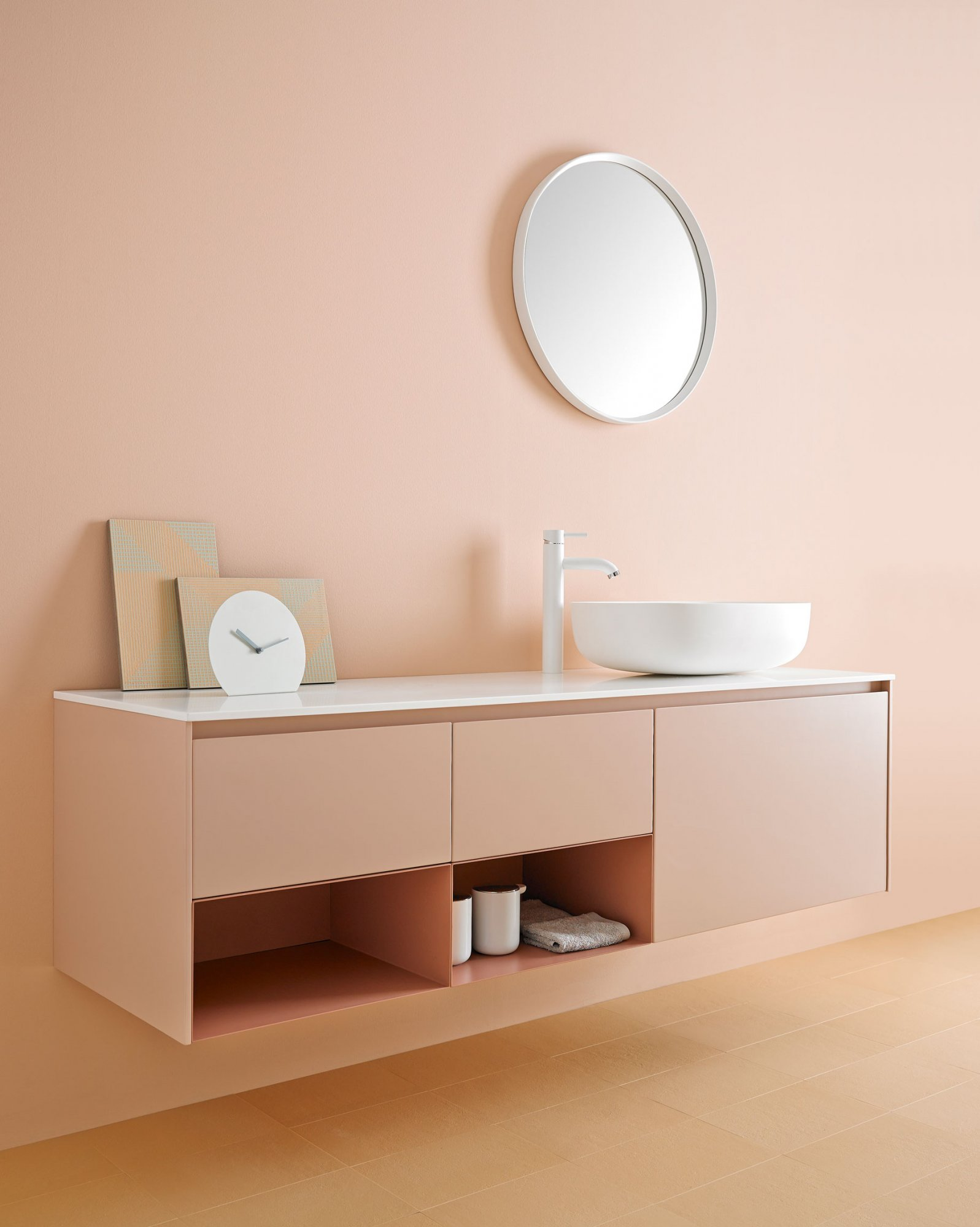 West One Bathrooms Strato Vanity Unit pink