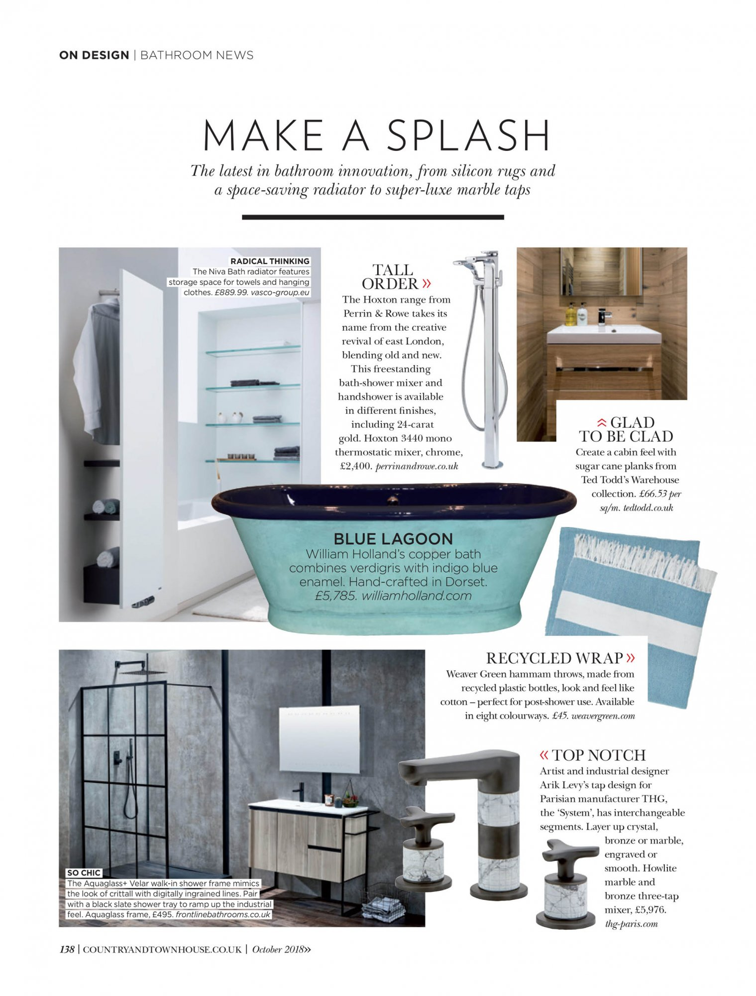 West One Bathrooms Country and Townhouse October 2018 Bathrooms News 1