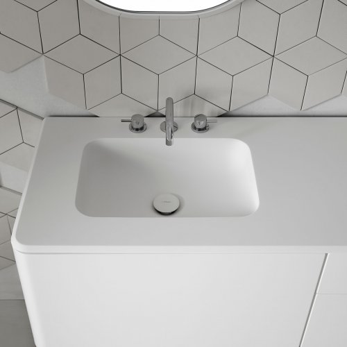 West One Bathrooms Fluent Rectangular basin
