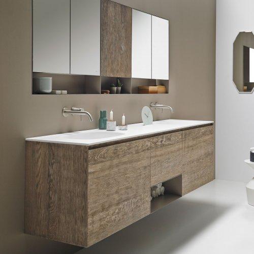 West One Bathrooms Strato Vanity Unit Wood