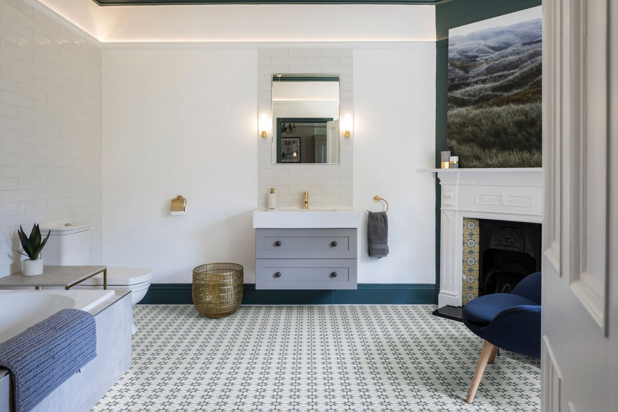 Magnificent Atlas Denim Wall And Floor Coverings Tiles West One Download Free Architecture Designs Rallybritishbridgeorg