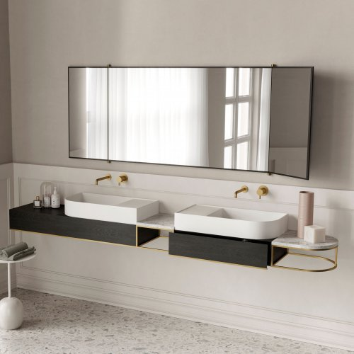 Nouveau Double Wall-mounted Console