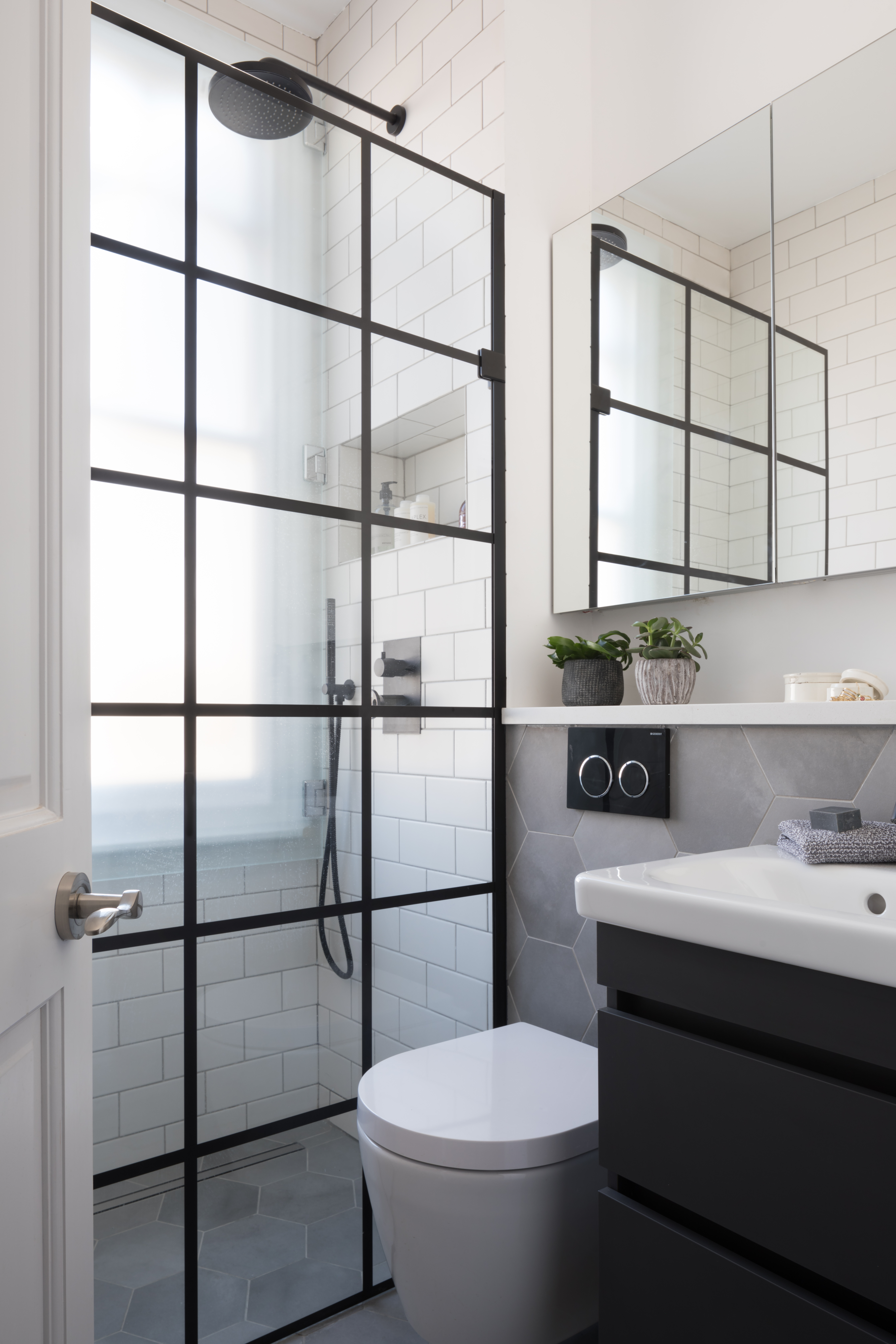 Industrial Compact Shower Room West One Bathrooms Case Study